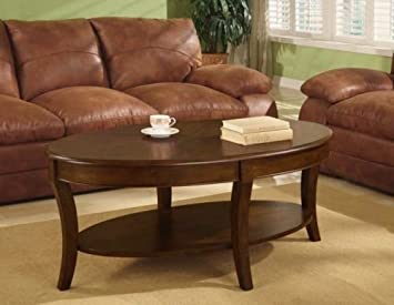 Oval Walnut Coffee Table A Beautiful Accent Table