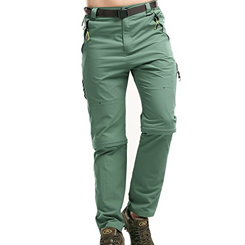 Toomett Mens Outdoor Anytime Quick Dry Convertible Lightweight Hiking Fishing Pants M1111