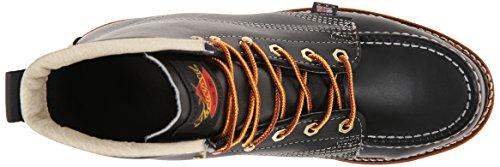 Thorogood Mens 6'' Moc Toe Wedge 814-6201 Black Leather Boots 41 EU srDwDC