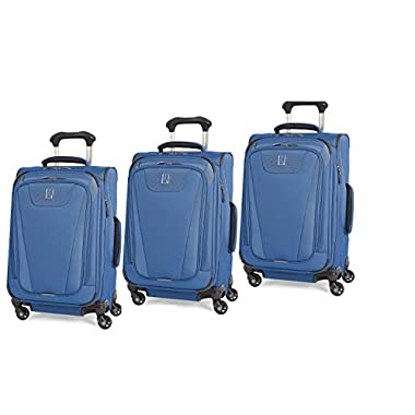 Travelpro Maxlite 4 3 Piece Set of 21, 25, and 29 Spinner (Blue)