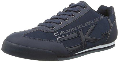 Calvin Klein Cale Matte Smooth/Paten- Sneaker Basse Uomo Blu (Blu (Navy))