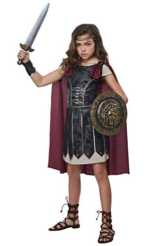 Fearless Gladiator Girls Costume Black/Red]()