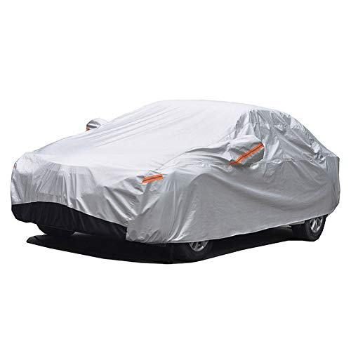GUNHYI Winter Car Covers Four layers Waterproof All Weather,Sun Rain Dust Snow Protection For Automobiles Outdoor Indoor,Fit Sedan (Length 180-194 inch)