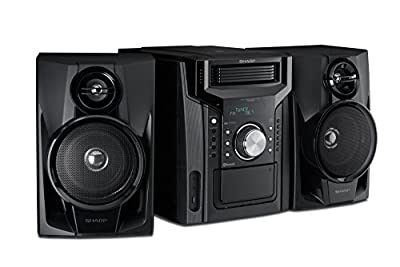 CD-BHS1050 Sharp Disc Mini Shelf Speaker/Subwoofer System with Cassette and Bluetooth