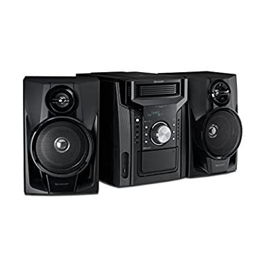 Sharp CD-BH950 240W 5-Disc Mini Shelf Speaker System with Cassette and Bluetooth