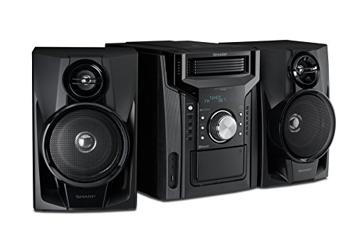 Sharp CD-BH950 Sharp 240W 5-Disc Mini Shelf Speaker System with Cassette and Bluetooth ()