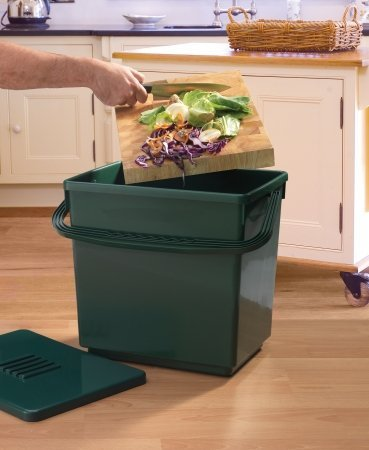 Green Jumbo Bin - Tierra Garden GP113 Odor-Free Compost Caddy, Large