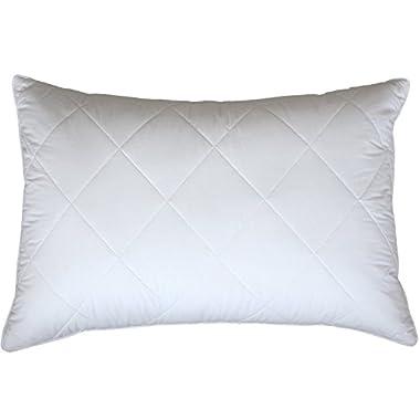 Snowman Bedding Standard/Queen Size Goose Feather Pillow 600TC Cotton Cover 20 x28 (35oz)