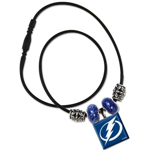 (WinCraft NHL Tampa Bay Lightning Lifetile Necklace with Beads)