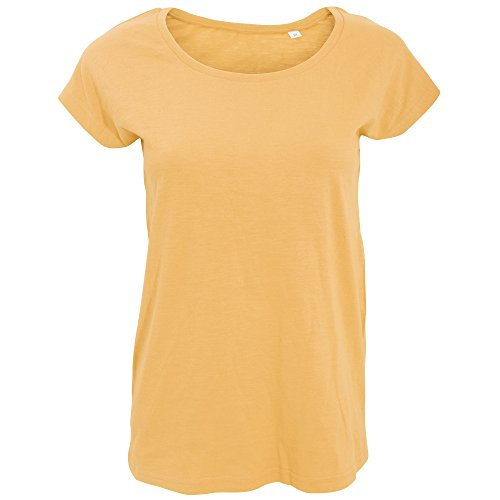 SOLS- Camiseta larga de manga corta con cuello redondo para chica/mujer Carne