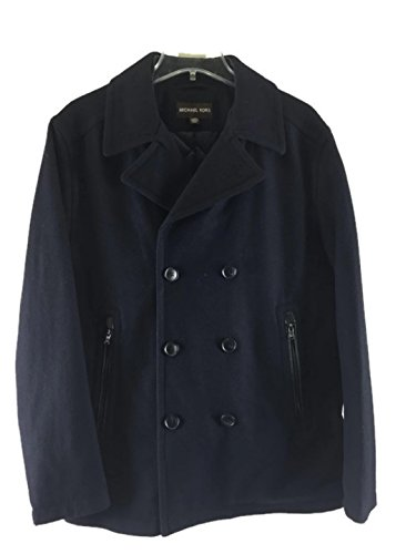 Michaek Kors Men's Double-breasted Wool-blend Peacoat Office Navy Large (Michael Michael Kors Double Breasted Jacket Apparel)