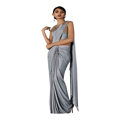 Ready Saree Party Lycra 2898 Wear EMPORIUM Saree Indian Embroidery ETHNIC Punjabi Sari Bridal Drape Dress Women to Wear Wedding Gown wz5aFqg1