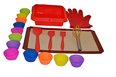 UnicGlam Baking Kit Kids Baking Set Girls Baking Set Real Cupcake Making kit Perfect Gift for Birthdays, Weddings for Starter and Professional Baking Lovers