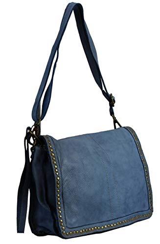BZNA Bag Gil Jeans blå Italy Designer Clutch axelväska dam handväska axelväska väska läder Shopper ny