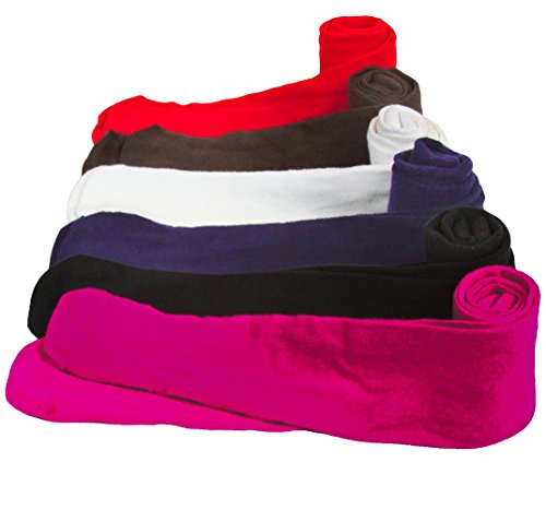 ToBeInStyle Girls' Pack of 6 Full Foot Winter Tights - Large