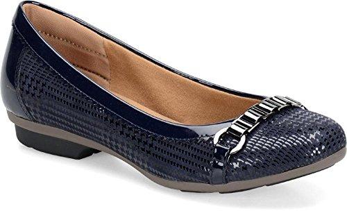 navy night Comfortiva navy Toe Almond Leather Womens Madeira q6XwXYTz
