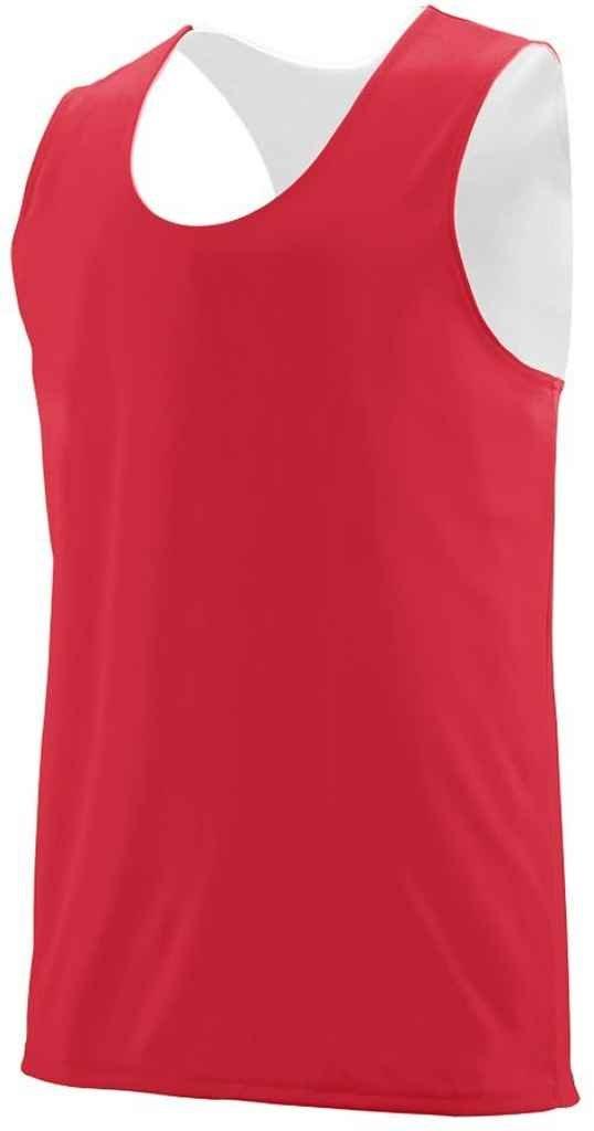 Augusta Sportswearメンズリバーシブル発散タンク B00N95JTR8 レッド/ホワイト XXX-Large