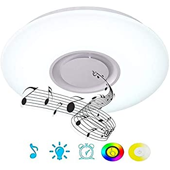 Horevo 24w Dimmable Ceiling Lamp With Bluetooth Speaker