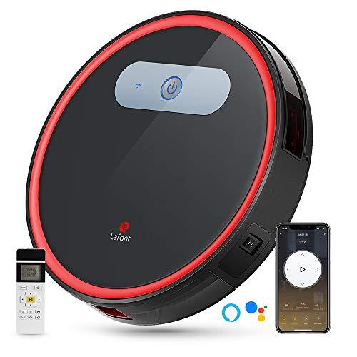 Lefant Robot Vacuum, Robotic Vacuum Cleaner Wi-Fi Connected, 2000Pa Power Suction, Works with Alexa and Google, Self-Charging, M501-B Robotic Vacuum for Hardwood Floors, Pet Hair, Medium-Pile Carpets