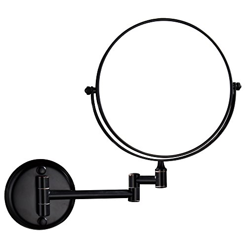 GURUN Wall Mount Makeup Mirror Oil Bronze Finish with 10X Magnification,Dual Sided, Copper 12 Inches Arm M1306O 8in,10x