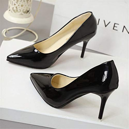 Chaussures Robe Talons Escarpins De En Cuir Aiguilles Cour 7cm noir Mariée qREEnwCA