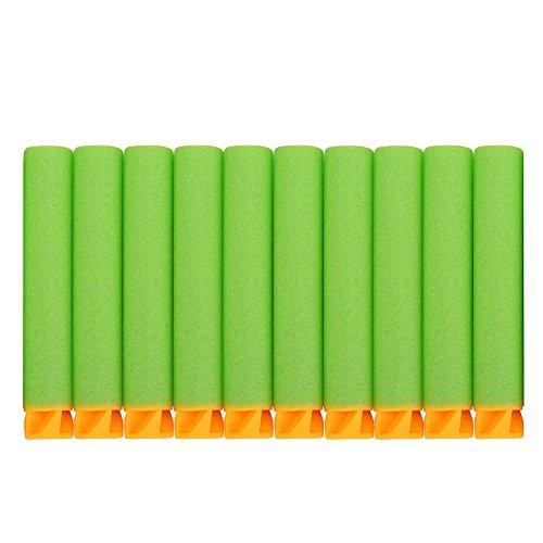 Price comparison product image Alomejor EVA Bullets Colorful Refill Bullets Series Pack Compatible Darts Soft Tip for Nerf N-Strike Elite Series (Green)