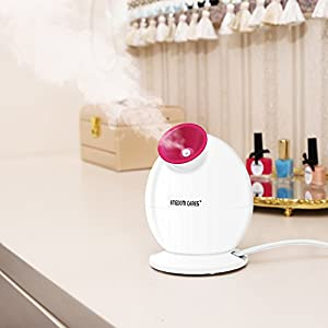 KINGDOMCARES Steamer 3-in-1 Warm Mist Moisturizing Facial Steamer Face Steamer Humidifier Hot Mist Clear Blackheads Acne Facial Hydration Home Sauna SPA Skin Care Atomizer Rose