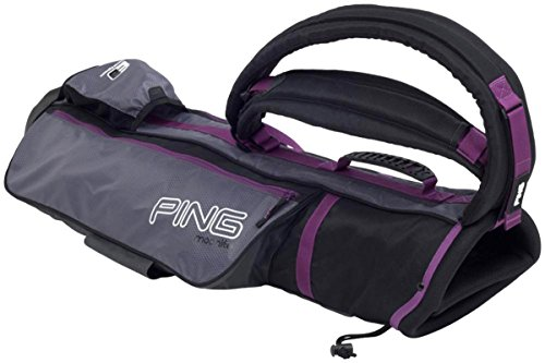 NEW Ping Moonlite Black/Charcoal/Purple Sunday Carry Bag