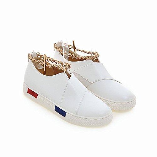 Latasa Dames Chic Kettingen Enkelband Skate Schoenen Flats Schoenen Wit