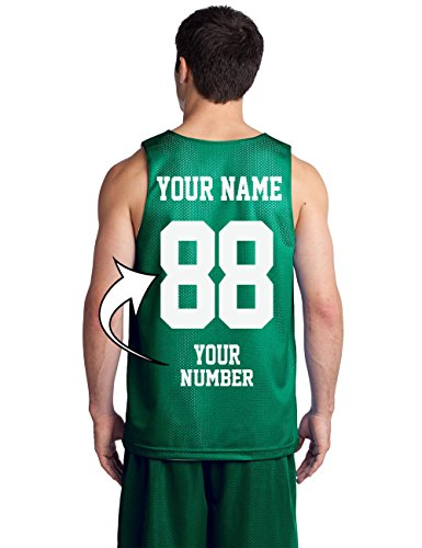 Custom Basketball Tank Tops - Make Your Own Jersey - Personalized Team (Green Replica Customized Jersey)