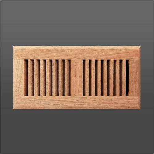 Roundover unfinished oak wood floor grille (4' x 10')