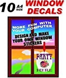 Inkjet Printable Window & Glass Clear Cling Film 300 micron 10 A4 Sheets