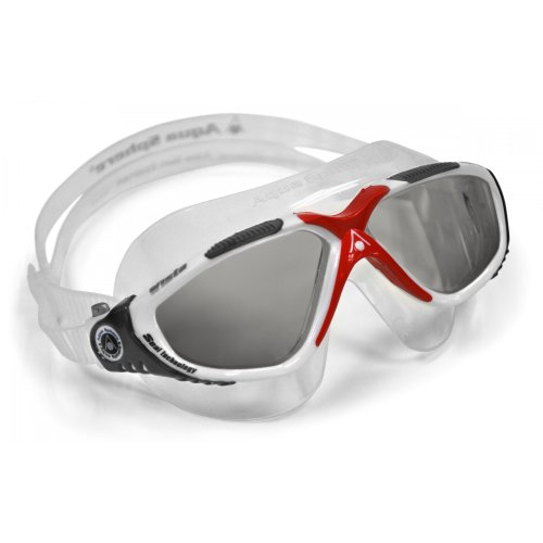 Aqua Sphere Adults Vista Tinted Lens Swimming Mask (One Size) (Red/White)