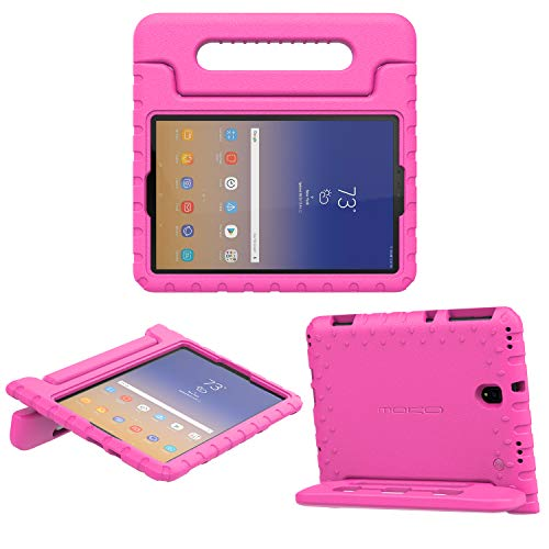 Eva Wake Handle - MoKo Shock Proof Case Fit Samsung Galaxy Tab S4 10.5 2018 Tablet (SM-T830/T835/T837), [Kids Friendly] Kiddie Series EVA Convertible Handle Light Weight Protective Cover w/S Pen Holder - Magenta