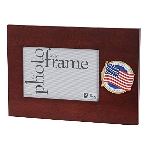 Allied Products American Flag Medallion 4-Inch by 6-Inch Desktop Picture Frame