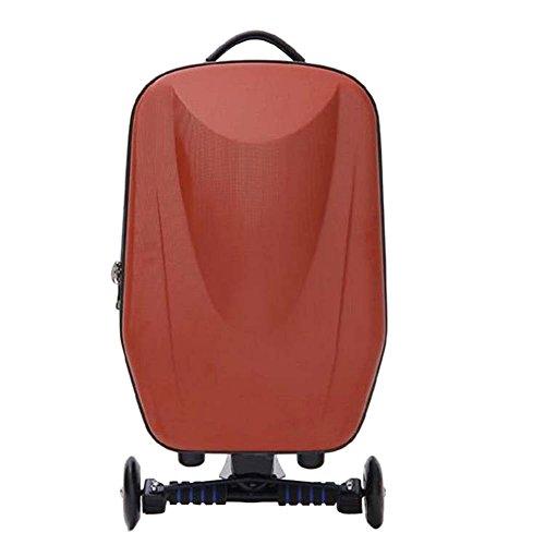 Espeedy maleta scooter scooter,Carretilla rodante de la rueda 21-inch del equipaje de la rueda dura de la manera de la moda que viaja la carretilla de la vespa de la maleta del viaje marron