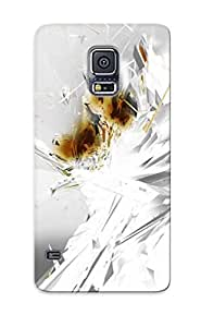 lintao diy Alexanderdson Grafrg-5880-gieqwrf Case Cover Galaxy S5 Protective Case Abstract White Cgi Patterns Shades Shapes Color Perspective Texture Apophysis Contrast Fractal Depth Abstract Artistic( Best Gift For Friends)