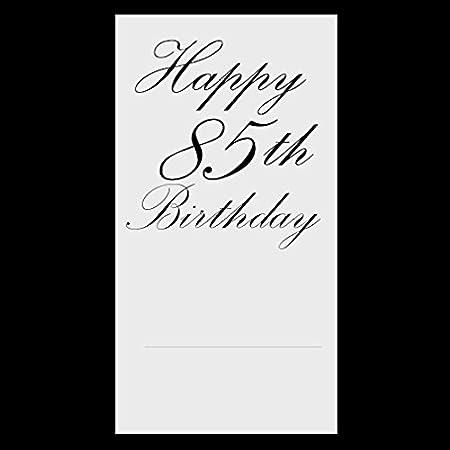 Partypro 85TH Classy Birthday Plastic Dessert Plate 8 CT.
