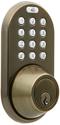 MiLocks XF-02AQ Digital Deadbolt Door Lock with Keyless Entry via Remote Control and Keypad Code for Exterior Doors MiLocks
