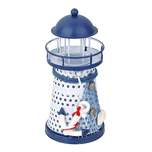 Tinksky Lighthouse Tealight Mediterranean Nautical