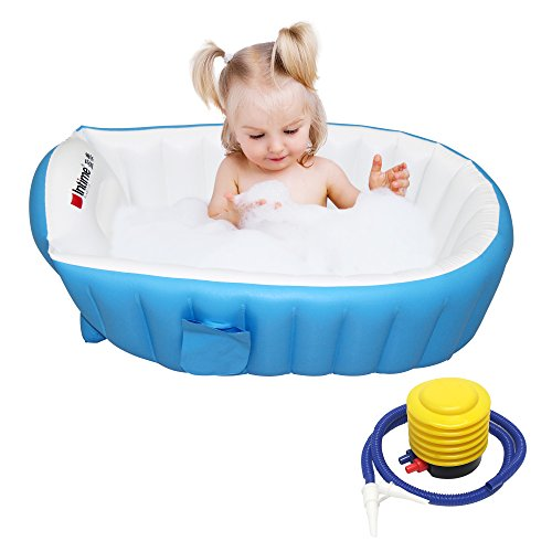 Signstek Baby Infant Travel Inflatable Non Slip Bathing Tub Bathtub (Inflatable Baby Bath)