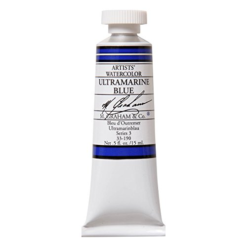 (M. Graham 1/2-Ounce Tube Watercolor Paint, Ultramarine Blue)