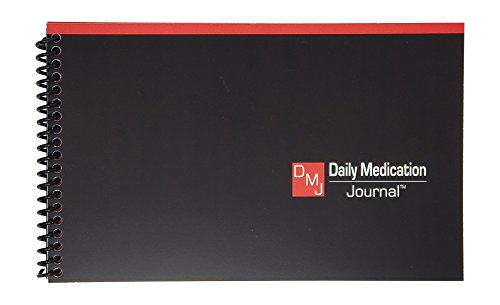 Daily Medication Journal | Medication Log | Track Blood Pressure, Blood Sugar, Pulse | Spiral Bound | Compact Size | Full Year Medical Journal