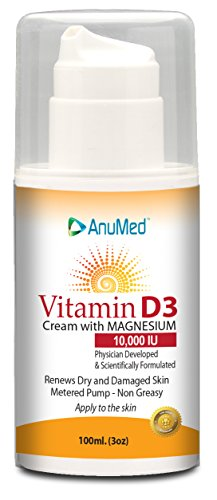 AnuMed Vitamin D3 Cream 10,000 IU 3 Ounces