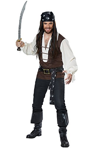 California Costumes Men's High Seas Adventurer Adult Man Costume, Brown/Cream, Small]()