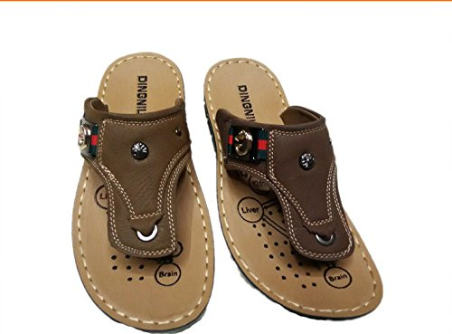 Gaorui Men Casual birkenstocks Shoes Sandals Flip Flops Flat Beach Slippers Sandalias Brown OTMT2vWKr2