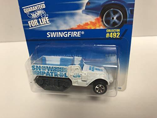 SWINGFIRE SNOW PATROL 1996 Mattel Hot Wheels Collector diecast 1/64 scale No. 492