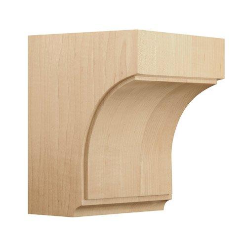 BrownWood 01607006WK1 Triad Wood Corbel, Medium, White - Medium Oak Corbels