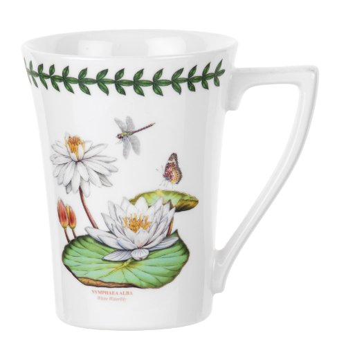 Portmeirion Exotic Botanic Garden Mandarin Mug with White Water Lily Motif