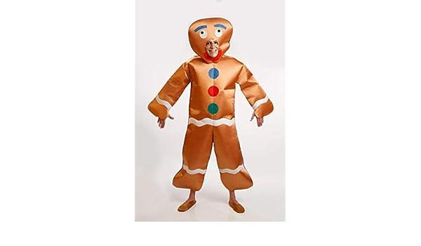 Disfraz de Muñeco Galleta de Jengibre para Hombre talla M-L: Amazon ...